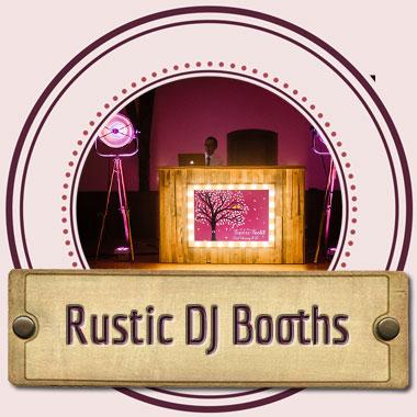 Wedding Chaps Rustic DJ Booth